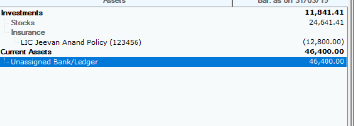 How do i enter LIC Insurance maturity amount in Mprofit ...